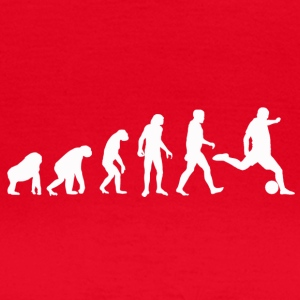 Fodbold Evolution / Soccer evolution - Sort Edit - Dame-T-shirt
