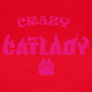 CRAZY CATLADY pink - limited - Frauen T-Shirt