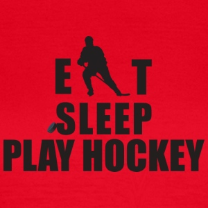 Eat Sleep spille hockey - T-skjorte for kvinner
