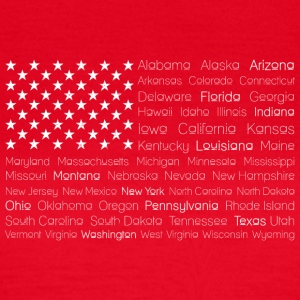 USA 50 States Flag - Frauen T-Shirt
