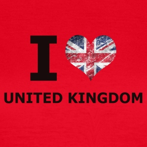 I LOVE UNITED KINGDOM FLAG - T-skjorte for kvinner