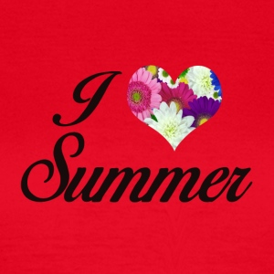 I LOVE SUMMER FLORAL - Dame-T-shirt
