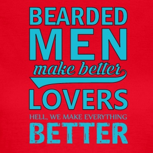 Bebaarde mannen / Bearded Men Grappige Shirt - Vrouwen T-shirt