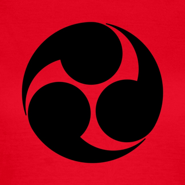 Kobayakawa Mon Japanese clan black