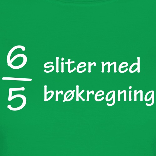 Seks av fem sliter med brøkregning