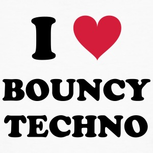 I Love Techno BOUNCY - Mannen Bio-T-shirt