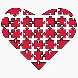 heart Puzzle - Men's Organic T-shirt