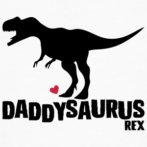 Father's Day Gift Idea daddysaurus - fathers day - Men's Organic T-shirt