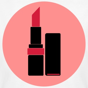 Lipstick Vector Logo (your color) - Men's Organic T-shirt