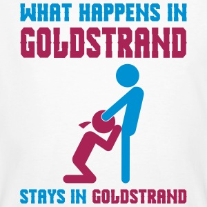 Goldstrand what happens there - Männer Bio-T-Shirt