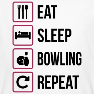 Eat Sleep Bowling Repeat - Ekologisk T-shirt herr