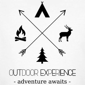 Outdoor Experience Adventure Awaits - Men's Organic T-shirt