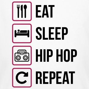 Eat Sleep Hip Hop Repeat - Männer Bio-T-Shirt