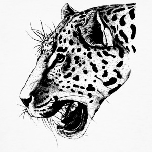 Leopard, leopard head - Men's Organic T-shirt