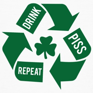 Ireland / St. Patrick's Day: Drink - Piss - Repeat - Men's Organic T-shirt