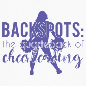 Cheerleader: Backspots - The Quarterback Of Cheer - Men's Organic T-shirt