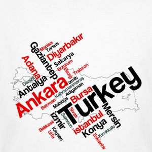 Turkey cities - Men's Organic T-shirt