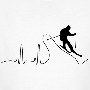ECG HEART LINE SKI black - Men's Organic T-shirt