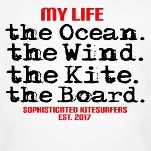 MY LIFE - the ocean the wind the kite the board - Men's Organic T-shirt