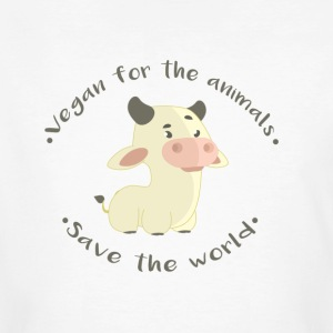 Vegan for the animals -Save the world - Camiseta ecológica hombre