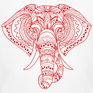 rouge ELEPHANT HEAD - T-shirt bio Homme