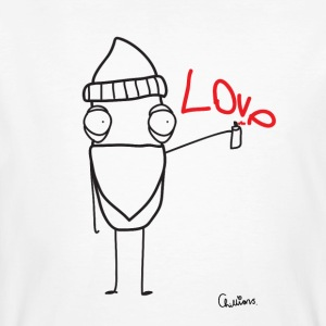Chillions Love Graffiti - Männer Bio-T-Shirt