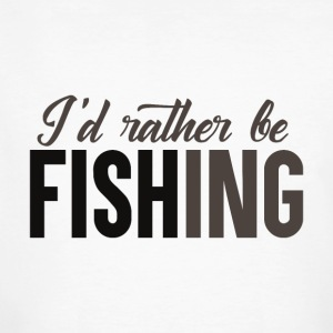 Rather be Fishing - Männer Bio-T-Shirt