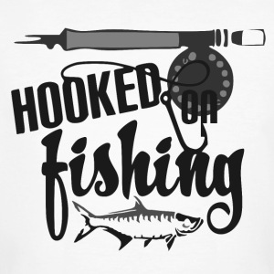Hooked on Fishing - Fishing - Männer Bio-T-Shirt