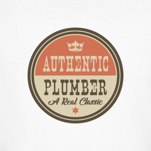 AUTHENTIC PLUMBER - KLEMPNER - Men's Organic T-shirt