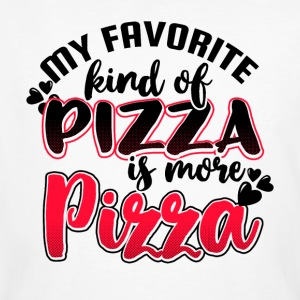 My favorite kind of Pizza is more Pizza - Männer Bio-T-Shirt