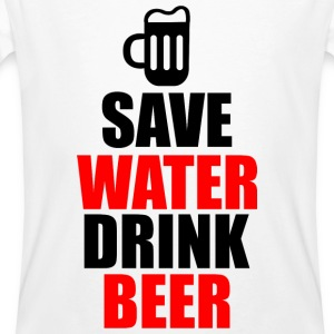 Save water drink beer - Men's Organic T-shirt