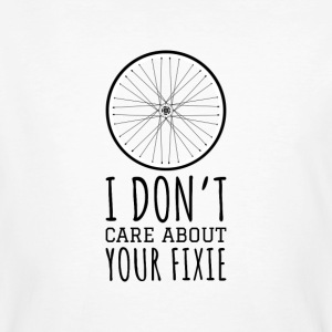 I don't care about your fixie - Männer Bio-T-Shirt