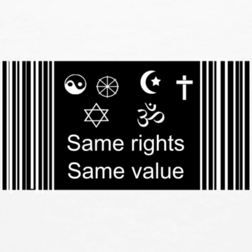 Rights and values - Men's Organic T-Shirt