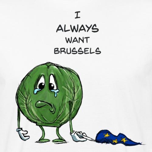 Anti Brexit rimane Bruxelles Funny Sprout - T-shirt ecologica da uomo