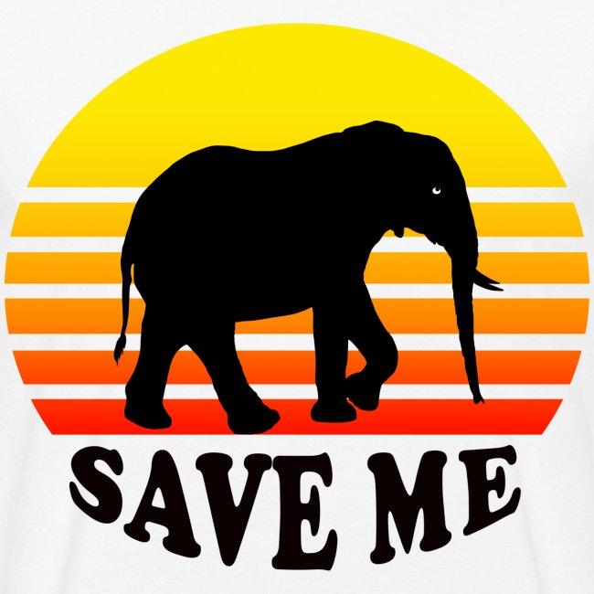 Elefant SAVE ME Schattenriss Sonne