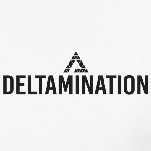Deltamination Logo Schwarz - Männer Bio-T-Shirt