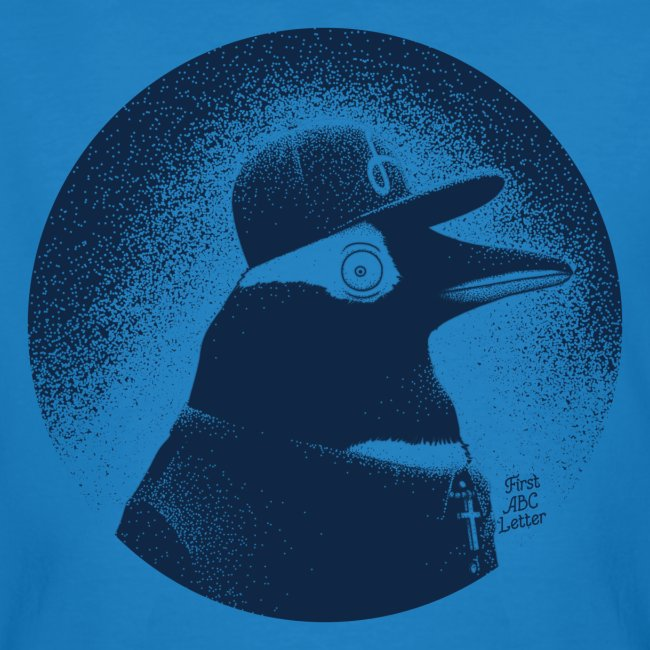 Pinguin dressed in black