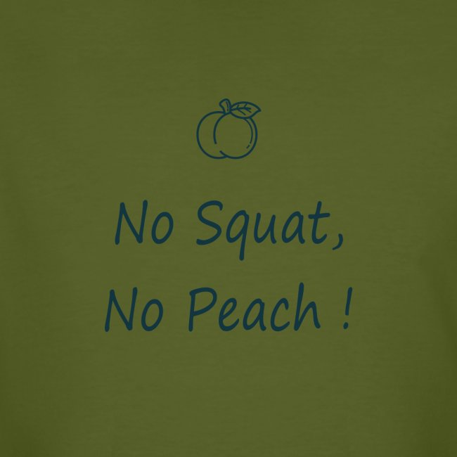 No squat, no peach in blue