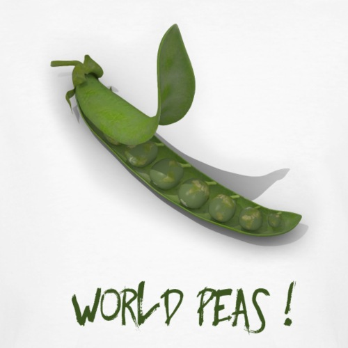 World Peas ! - Männer Bio-T-Shirt