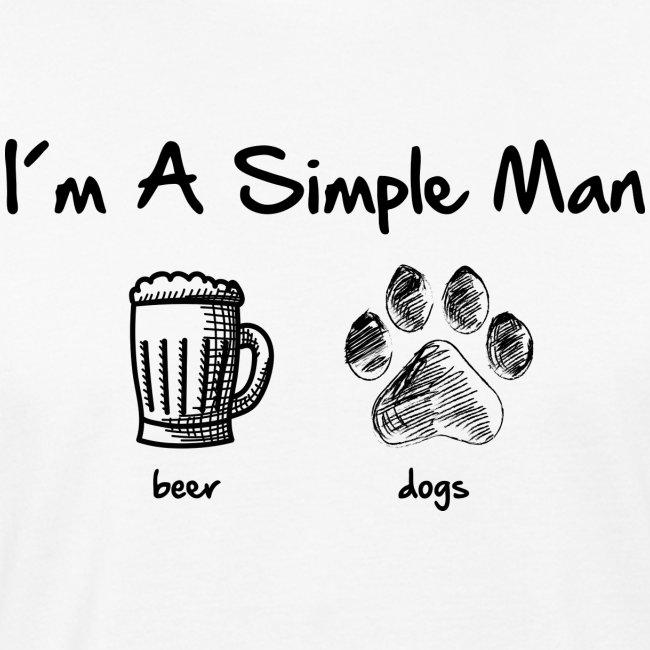 Vorschau: simple man dogs beer - Männer Bio-T-Shirt
