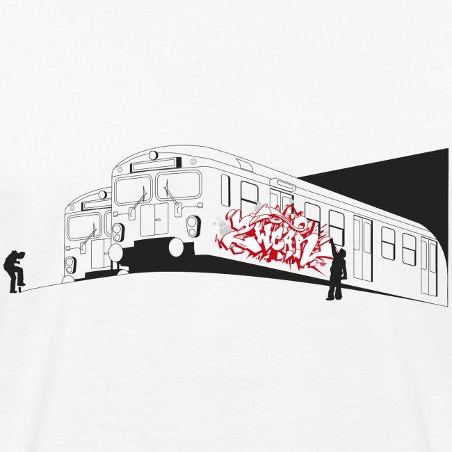 Throw up graffiti trains