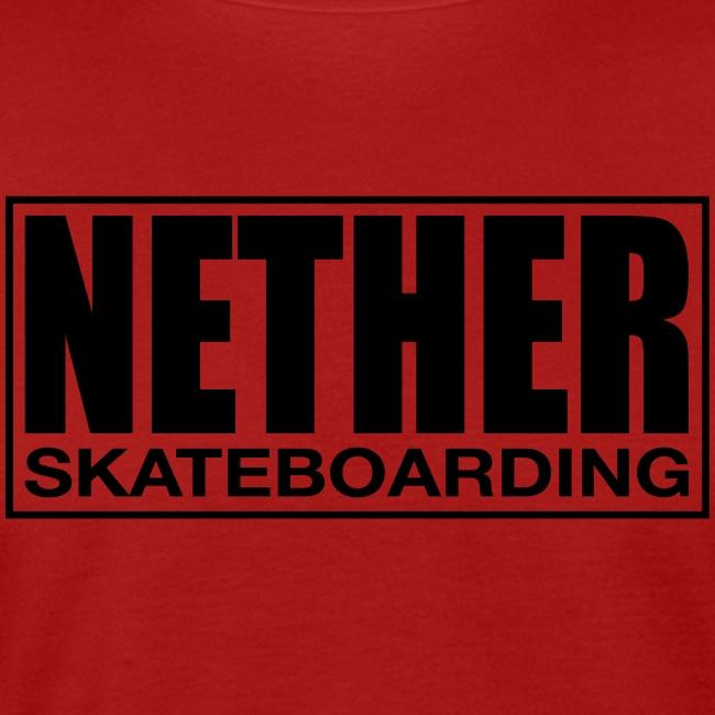 Nether Skateboarding T-shirt Black