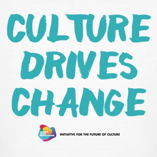 Culture Drives Change Speaker white - Men's Organic T-Shirt