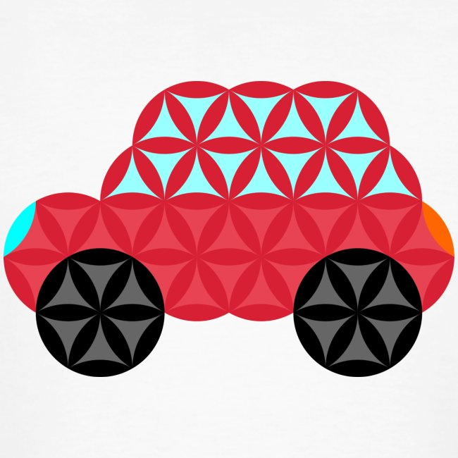 The Car Of Life - M02, Sacred Shapes, Red/186