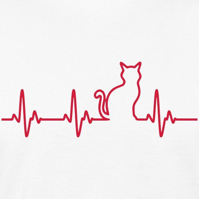Vorschau: Ein Herz für Katzen - Männer Bio-T-Shirt