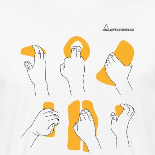 'Otteet' Orange-Black - Miesten luonnonmukainen t-paita