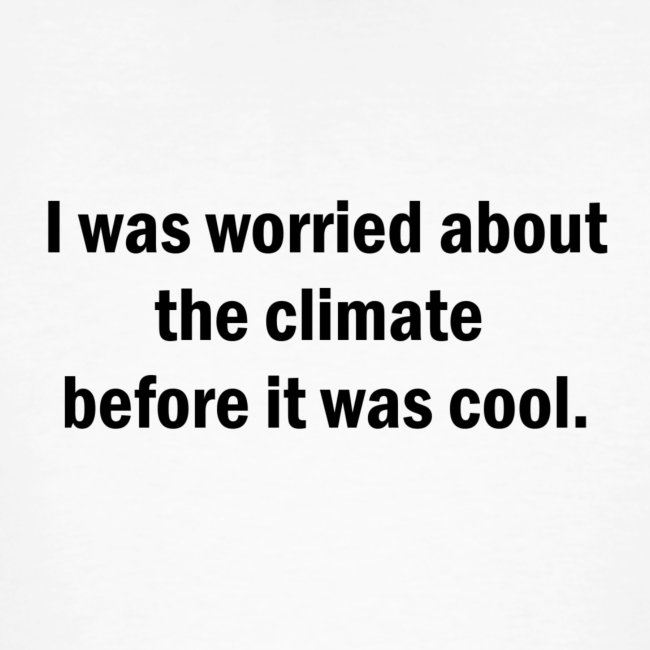 Worried about the climate MUSTA PRINTTI