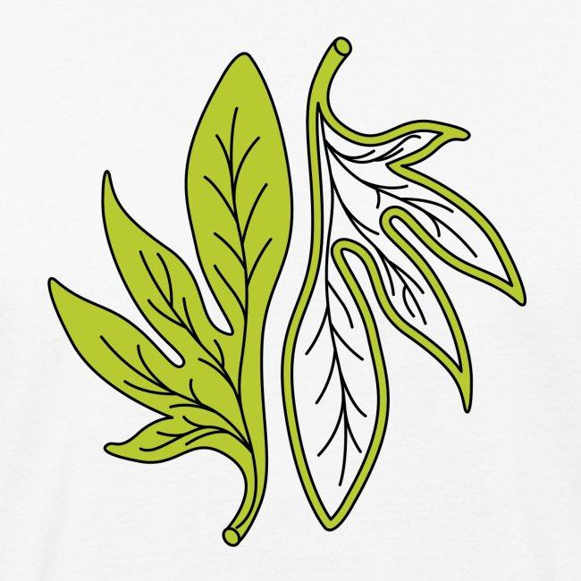 foglia verde palmata