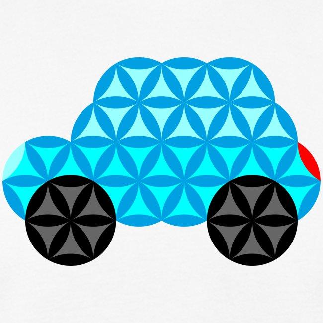 The Car Of Life - 01, Sacred Shapes, L/Blue.