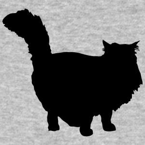 Vector Cat Silhouette - Økologisk T-skjorte for menn